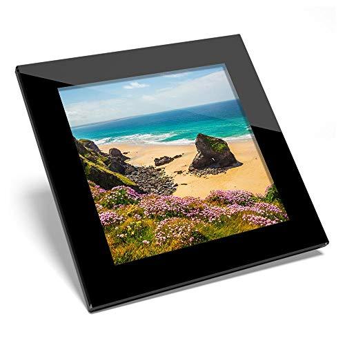 Posavasos de cristal impresionante – Beruthan Steps Cornwall Beach brillante calidad de posavasos/protección de mesa para cualquier tipo de mesa #44269