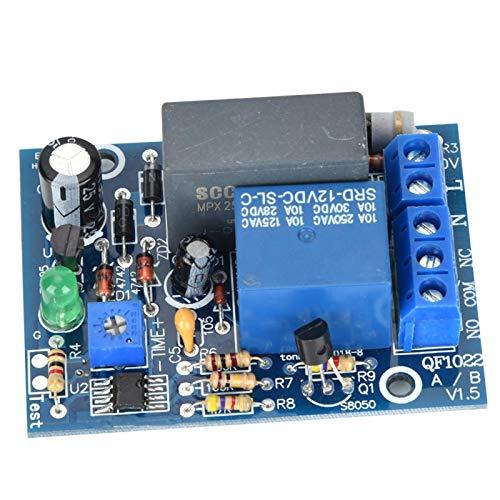 Módulo de relé de temporizador, temporizador ajustable de 220 VCA, temporizador de retardo, interruptor de apagado, módulo de relé de tiempo, carga 10A250VAC / 1(0~10 Min)