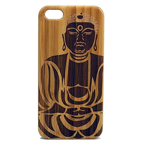 Tibetan Buddha iPhone 8 Plus Wood Case/Cover by iMakeTheCase | Shakyamuni Gautama Siddartha | Buddhism Meditation Spiritual | Eco-Friendly Bamboo Cover.