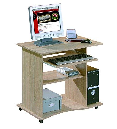 Inter Link Schreibtisch Computertisch Laptoptisch Arbeitstisch Büromöbel MDF Sonoma-Eiche...