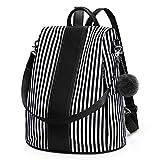 Newshows Mochila grande para mujer de lona antirrobo, mochila de viaje, bolso de hombro, Black (Negro) - Newshows SM034A
