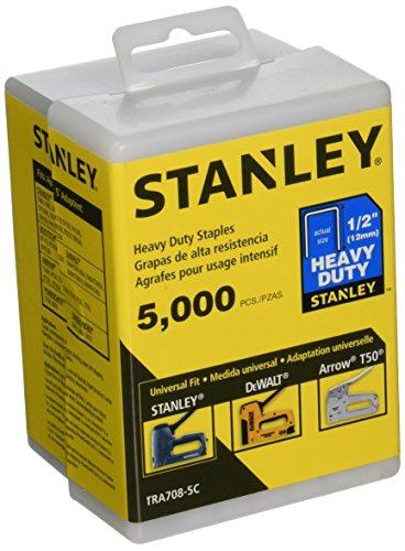 Stanley TRA708-5C 1/2-Inch Heavy Duty Staples, 5000 Units,Black