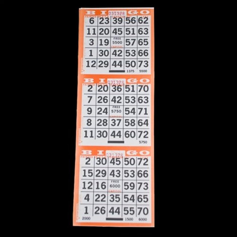 3 on Pushout Bingo Paper Cards  orange  250 Sheets  750 Cards