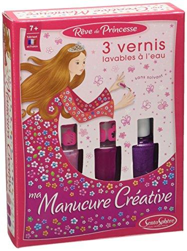 Sentosphere - Manicure Creativa, 3 Smalti, Rosa, Modelli/Colori Assortiti, 1 Pezzo