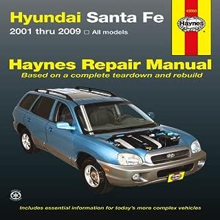 Hyundai Santa Fe: 2001 thru 2009 (Haynes Repair Manual) by Haynes Manuals, Editors of Published by Haynes Manuals, Inc. 1st (first) edition (2013) Paperback