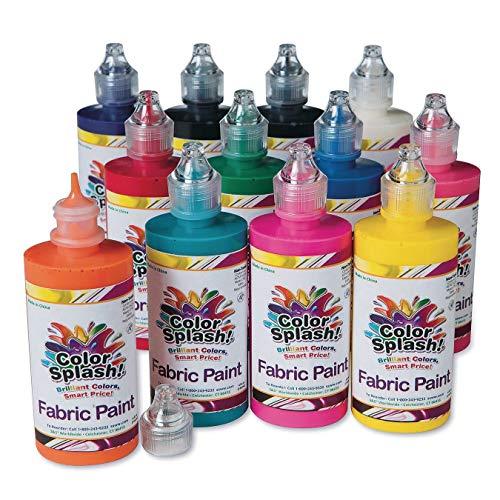 S&S Worldwide PT3315 Fabric Paint Assortment (Pack of 12), 4 Ounces