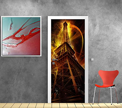 Art Deco Sticker Türposter Eiffelturm – 93 x 204 cm