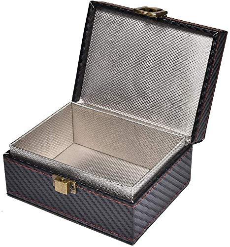 FOXNSK Caja Faraday para Llaves de Autos, Cuero Señal Bloqueador Caja para Coche Llaves Engañar Los telefonos Tarjetas Sin Claves Entrada RFID Señal Bloqueador Y Anti-Robo Faraday Caja Jaula: Amazon.es: Coche y