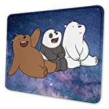 We B-are Bears Gaming Mouse Pad Non-Slip Rubber Thick Mouse Pad for Computers Desktops, PC, Laptop,7 X 8.6 in
