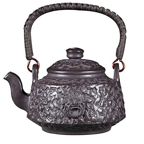 Teapot Yixing Teapot Handmade Imitation Iron Ore Ti Liang Pot Teapot Black Xingsha Tea Maker Sand Pot Classic Tea Set (Color : Black star sand)