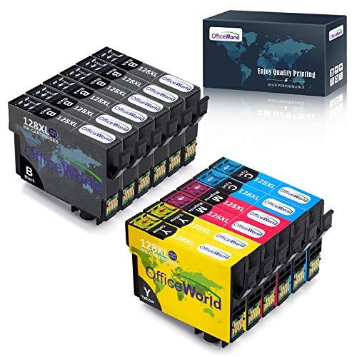 OfficeWorld Sostituzione per Epson T1281 T1282 T1283 T1284 T1285 Cartucce d'inchiostro Compatibile per Epson Stylus SX235W SX130 SX230 SX125, Epson Stylus Office BX305FW SX430W BX305FW SX420W