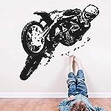 WERWN Creativo Dirt Bike Mural Motocicleta Mural Decoración de la habitación Jardín de Infantes Dormitorio Regalo