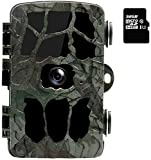 Smyidel Wildlife Hunting Camera with Motion Detector Night Vision Full HD 44 IR LEDs Infrared Sensor 25m Trail Surveillance Action Camera IP66 Waterproof with 32G Memory Card