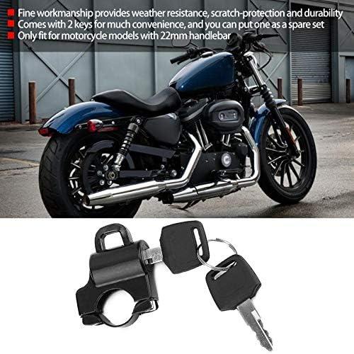 Universal Motorrad Helmschloss 22mm Lenker Helmschloss Vorhängeschloss Mit 2 Schlüssel Motorrad Mit 22mm Lenker Cyclist Store Farbe Silber Auto