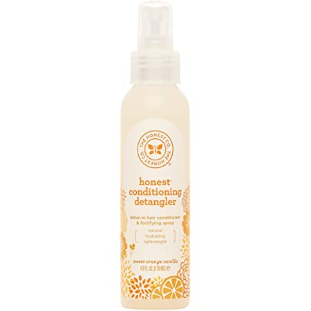 The Honest Company Sweet Orange Vanilla Conditioning Detangler, Lightweight Leave-in Conditioner & Fortifying Spray, Paraben and Synthetic Fragrance Free, Plant-Based, VEGAN, 4 fl oz