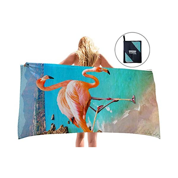 uideazone Microfibre Pool Beach Travel Towels Quick Dry Lightweight Sand Free Beach...