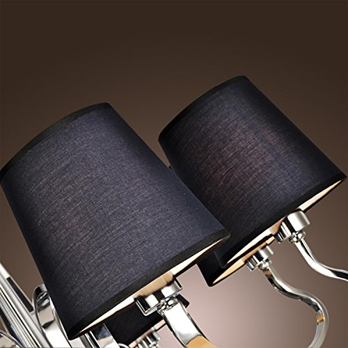 LightInTheBox Black Polish Style Chic Mordern LED Candle Chandelier Kitchen Ceiling Lights Fixtures for Living Dining Room Bedroom Hallway Entry 8 Lights Lamp