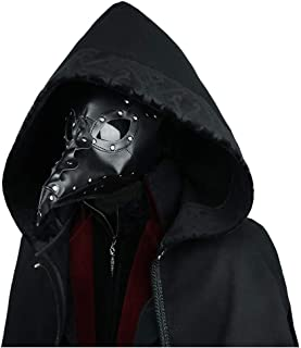 HU Halloween Party Crow Doctor Mask, Cosplay Decoration, Leather Material (Color : Black)