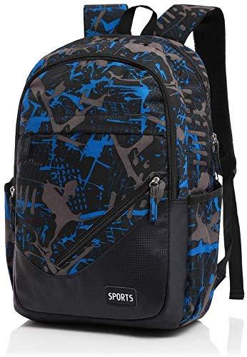 SHRAY Men's Backpack Business Student Bag Fashion Leisure Women Outdoor Travel Bag Computer Bag Blue