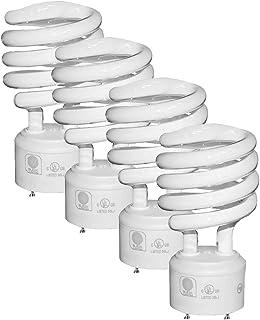 SleekLighting - GU24 23Watt 2700K 1600lm 2 Prong Light Bulbs- UL approved-120v 60Hz - Mini Twist Lock Spiral -Self Ballast...