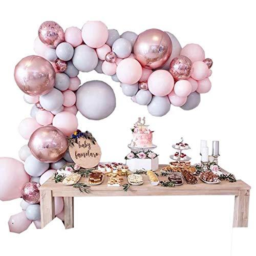 Globo de cumpleaños, diseño de lentejuelas metálicas doradas, decoración de cumpleaños, guirnalda de globo, juego de arco para niña y niño, color dorado