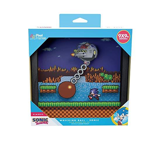 Pixel Frames Sonic The Hedgehog Wrecking Ball 9x9 inches (Big) Shadow Box Art