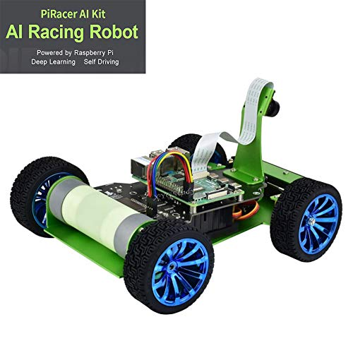PiRacer AI DonkeyCar Kit Add-ons Accessories for Raspberry Pi to Build AI Autonomous Racing Robot with Front Camera Eye Expansion Board Module Wireless Gamepad for Deep Learning Self Driving @XYGStudy