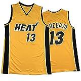 FGNB Camiseta de baloncesto de 13 # Adebayo, versión de bonificación térmica del uniforme de baloncesto YellowMen, cómoda malla transpirable y de secado rápido, sin mangas, S-2XL amarillo-L