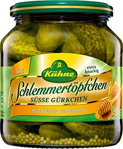Kühne - Schlemmertöpfchen Süsse Gürkchen - 530g/300g