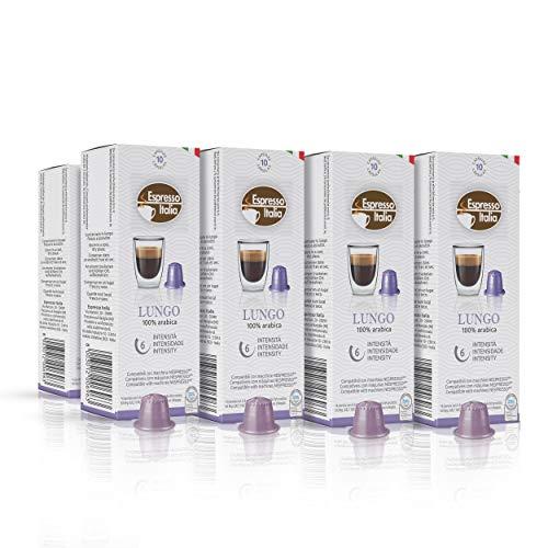 Nespresso Compatible Capsules - 80 Espresso Capsules. Espresso Italia Coffee Capsules for Nespresso machines. Nespresso Lungo Blend Italian Coffee, Expresso Coffee Pods.