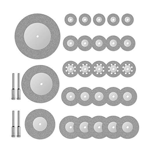 El corte rotativo herramienta de diamante discos circulares de la rueda de sierra 16 20 22 25 30 40 50 60 mm con mandril de Dremel accesorios eléctricos Grinder 32pcs