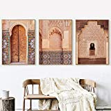 Henypt Carteles y Grabados orientales Adornos Marruecos Viajes Pared Arte fotografía Cuadros Arte Lienzo Pintura living-35 * 50 * 3 con Marco