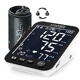 Upper Arm Blood Pressure Monitor, HOMIEE Automatic Digital Blood Pressure Monitor Backlit Display 5'' Large Screen 2 Users with 180 Memories Irregular Heartbeat Detector Low Battery Alert (Black)