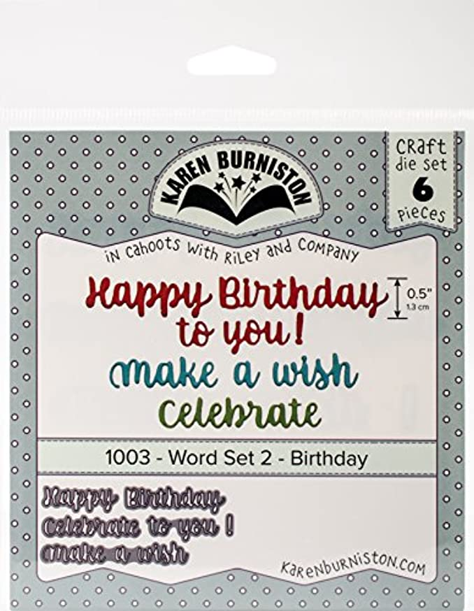 KB Riley 1003 Karen Burniston Dies-Word Set 2 - Birthday