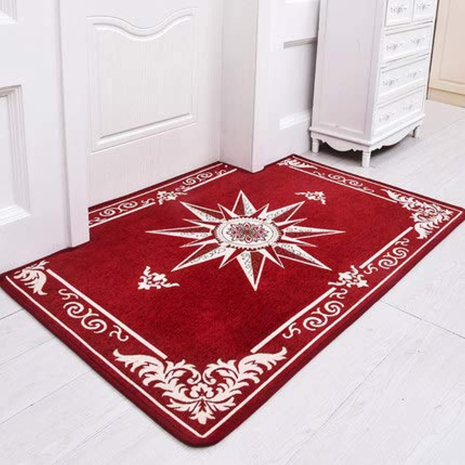 Doormat,Entrance Carpet The Carpet for The Living Room No-Slipping Mat Easy to Clean Durable-red 20x31inch