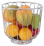 Contacto de fruta de cesta de acero inoxidable con tapa de 20 cm