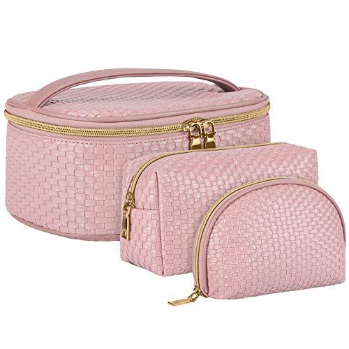 Beauty Case da Viaggio 3 Pezzi Borse da Toilette Borsa Cosmetica per Donne Grande Impermeabile Pochette da Toilette Organizer