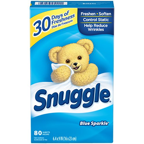 Snuggle Fabric Softener Dryer Sheets, Blue Sparkle, 80 Count