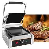 Parrilla multifunción de acero inoxidable, 1800 W, parrilla eléctrica para panini, carne, carne, sándwich hamburguesa, temperatura ajustable