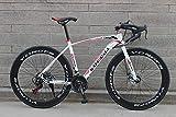 LIKEJJ Vélo de Route Adulte, vélo de Course pour Hommes avec Frein à...