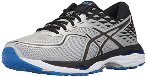ASICS Mens Gel-Cumulus 19 Running Shoe, Grey/Black/Directoire Blue, 8.5 Medium US