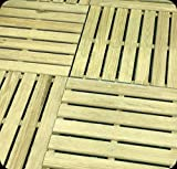 Piastrella da esterno mattonella pavimento cm 50x50 giardino in pino impregnato