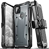 Vena vArmor Rugged Case Compatible with Google Pixel 5A 5G, (Military Grade Drop Protection) Heavy Duty Holster Belt Clip Cover with Kickstand - Space Gray