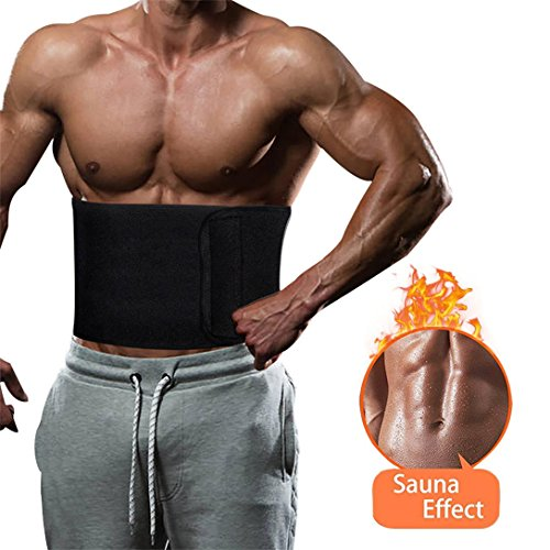 Eastsky Taille Trimmer Taille Trainer Sweat Belt Sauna Slim Weight Loss Ab Belt Verstelbare Maag Fat Burner Wrap Sweat Trainer voor Mannen en Vrouwen