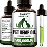 Kinpur Natural Hemp Oil for Dogs and Cats - 500,000mg - Pet Hemp Oil that Supports Mobility, Hip and...