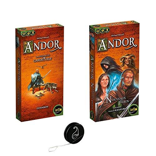Juego de 2 extensiones Andor: la leyenda de guardetoile + nuevos héroes + 1 Yoyo Blumie