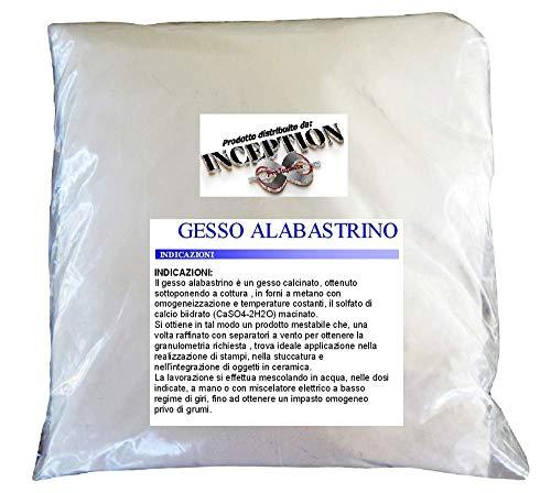 1kg gesso alabastrino scagliola adatto a colate in stampi di silicone e non solo