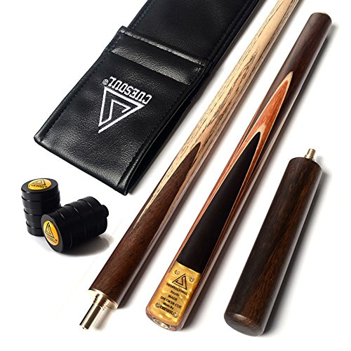 "CUESOUL 57""Handcraft 3/4 Joints Snooker Queue mit Verl?ngerung/Gelenk Protector verpackt in Kunstleder Cue Bag (D305)"