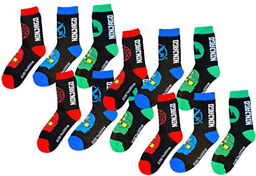 TVM Europe GmbH LEGO NINJAGO Socken Set 12 Paar Kindersocken Kinder Strümpfe für Jungen OEKO-TEX 100 schwarz 35 36 37 38 Gr.35/38