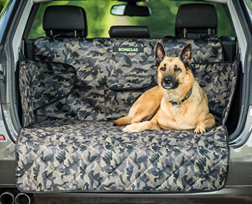 BOMICLAS Universal Kofferraumschutz Hunde Auto - Kofferraumdecke Ideal für deinen Hund - Kofferraumschutzmatte mit Seitenschutz für Kofferraum - Kofferraumschutzdecke Hund wasserdicht - Camouflage